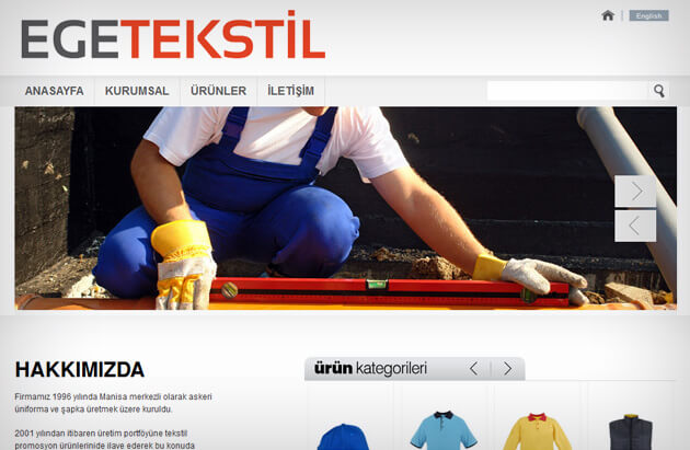 Ege Tekstil Kurumsal Web Site Tasarımı