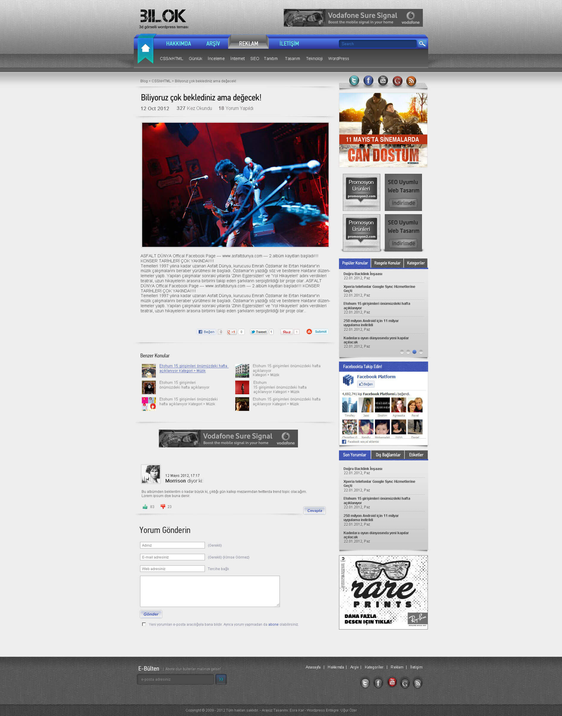Wordpress Bilok Teması Makale Sayfası