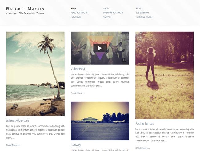 Pinterest WordPress Teması