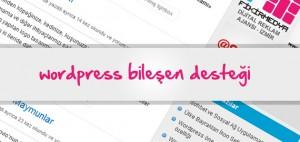 Wordpress Bileşen Desteği Ekleme