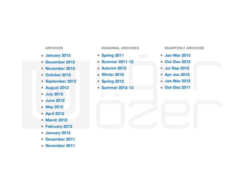 WordPress Kategoriye Özel Arşiv Listeleme