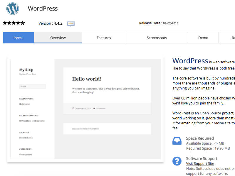 cPanel WordPress Kurulumu