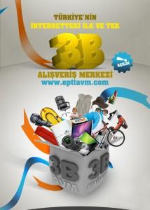 e-Ptt AVM İlk 3 Boyutlu E-Ticaret Sitesi